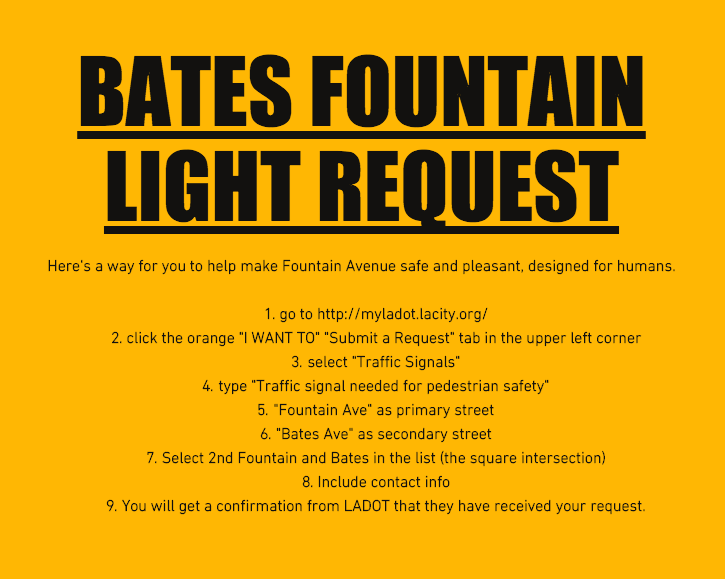 Bates Fountain Light Request Instructions